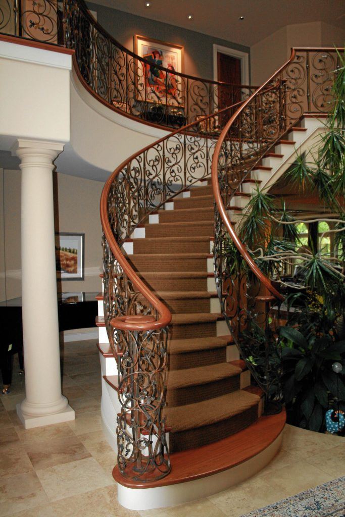 Photo of custom iron railings