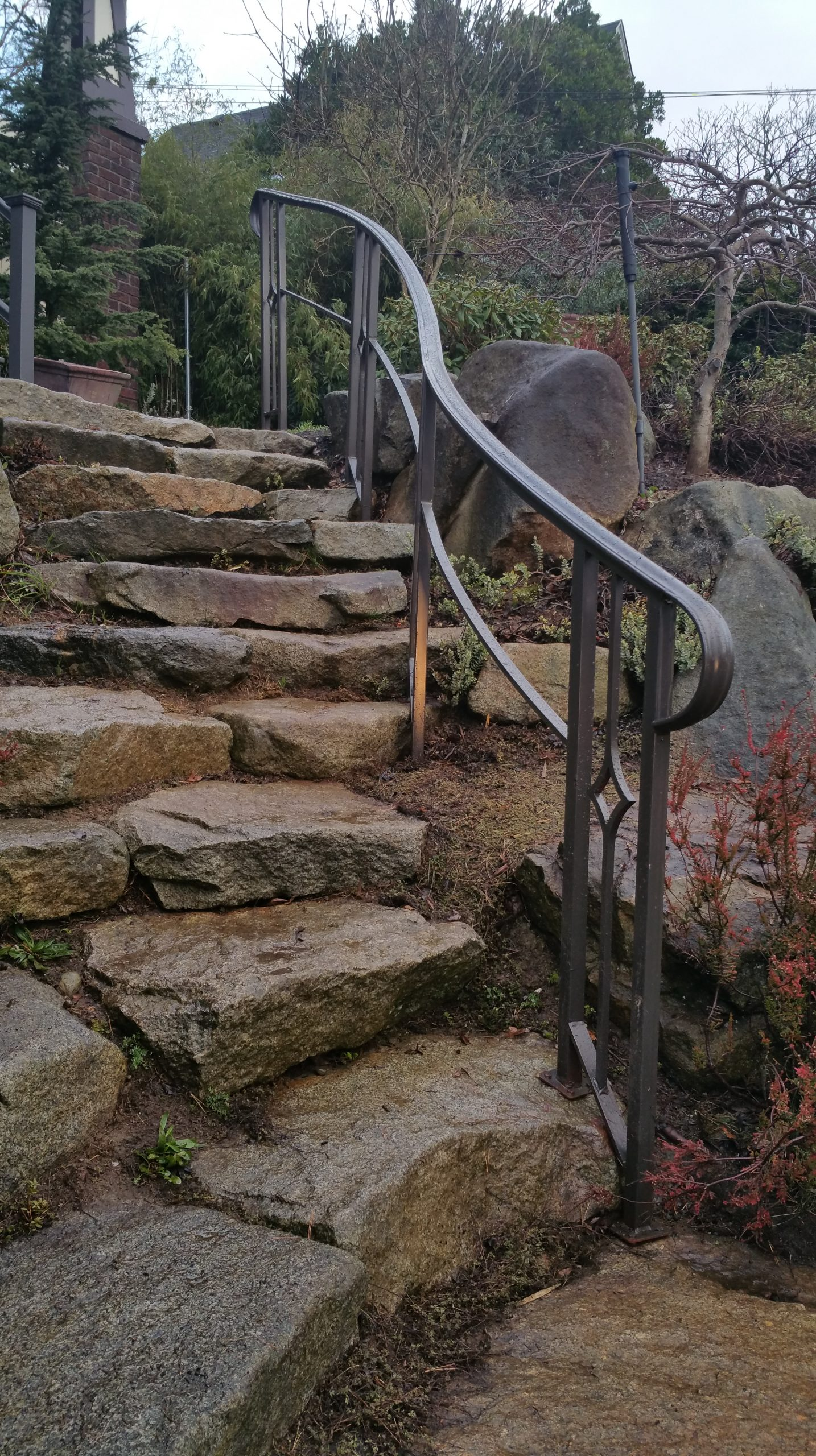 Handrail with lighting in the day