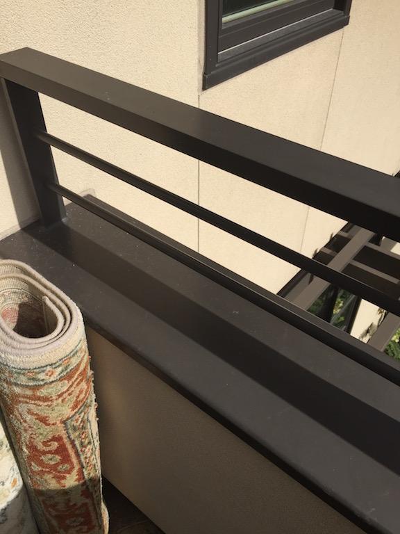 Rails with custom metal wall cap 2